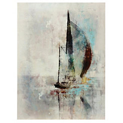 Sailboat Lake Canvas Art Print