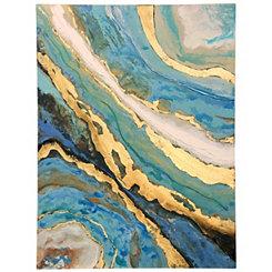 Aqua Agate Canvas Art Print