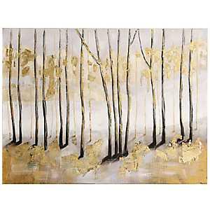 Golden Landscape Canvas Art Print