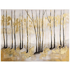 Golden Landscape Canvas Art Print