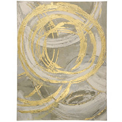 Abstract Gold Circles Canvas Art Print
