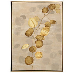 Gold Branch Framed Canvas Art Print