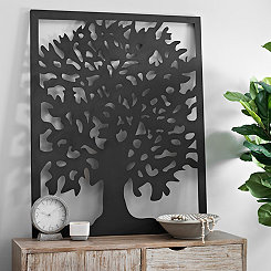 Laser Cut Tree Metal Wall Plaque