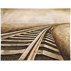 Railroad Tracks Canvas Art Print