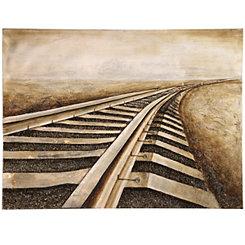 Railroad Tracks Canvas Art Print