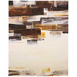 Brushed Abstract Canvas Art Print
