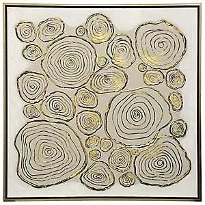Flower Swirl Framed Canvas Art Print