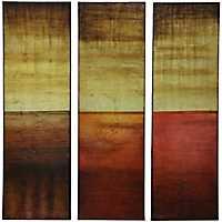 Warm Tone Foil Panel Canvas Art Prints, Set of 3