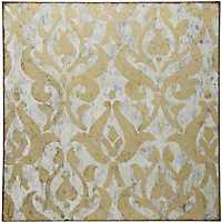 Gold Damask Foil Canvas Art Print