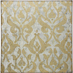 Gold Damask Foil Canvas Art Print
