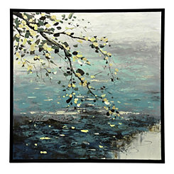 Tree Branch Framed Canvas Art Print