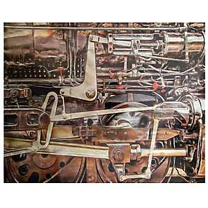 Train Engine Metal Art Print
