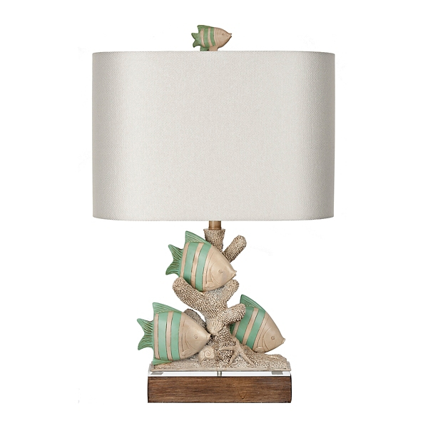 Point Clare Triple Fish Table Lamp