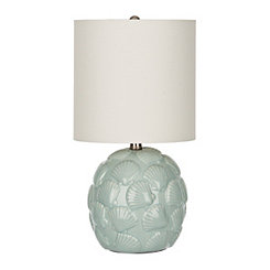 Blue Glaze Shells Ceramic Table Lamp