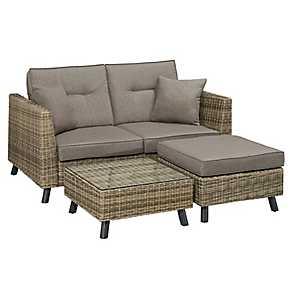 Carmel Convertible Outdoor Lounger Set, Set of 3