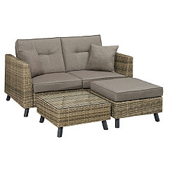 Carmel Convertible Outdoor Lounger Set, Set of 3