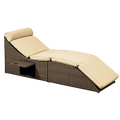 Pacifica Tan Outdoor Lounger