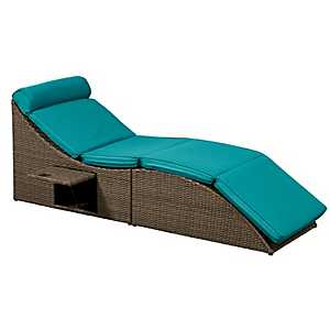 Pacifica Blue Outdoor Lounger