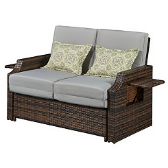 Gray Bahama Loveseat Lounger