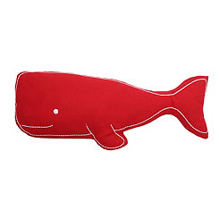 Red Wally Whale Pillow