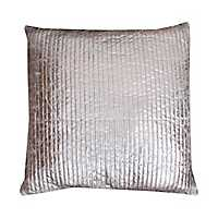 Gary Silver Crackle Quilted Pillow