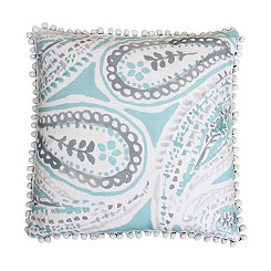 Katerina Nile Blue Paisley Pillow