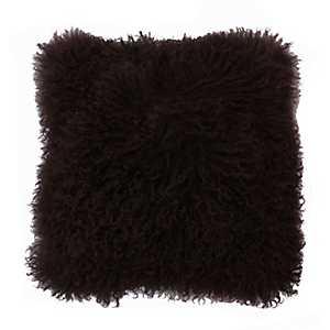 Walnut Mongolian Lamb Pillow