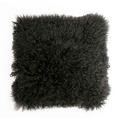 Charcoal Mongolian Lamb Pillow