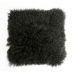 Charcoal Mongolian Lamb Pillow