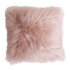 Rose Smoke Keller Faux Fur Pillow