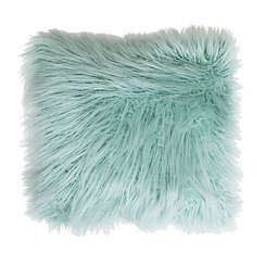 Harbor Blue Keller Faux Fur Pillow