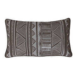 Tracey Elephant Tribal Embroidered Accent Pillow