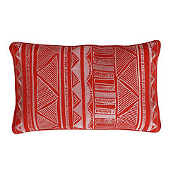 Tracey Koi Tribal Embroidered Accent Pillow