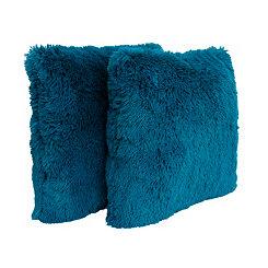 Ocean Depths Faux Fur Pillows, Set of 2