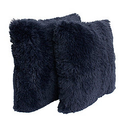 Parisian Night Faux Fur Pillows, Set of 2