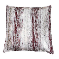 Christopher Oxblood and Gold Jacquard Pillow
