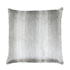 Christopher Gray and Silver Jacquard Pillow