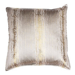 Christopher Oatmeal and Gold Jacquard Pillow