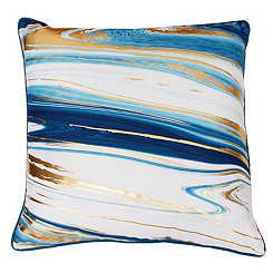 Kia Marbled Dragonfly and Gold Foil Pillow
