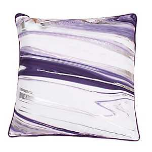 Kia Marbled Vintage Violet and Silver Foil Pillow