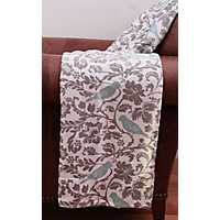 Selma Gray Bird Printed Blanket
