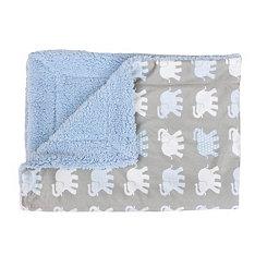 Brandy Blue Elephant Bazaar Baby Blanket