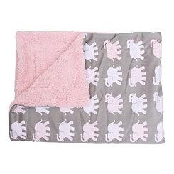 Brandy Pink Elephant Bazaar Baby Blanket