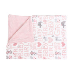 Cory Baby Girl Safari Loft Fleece Blanket