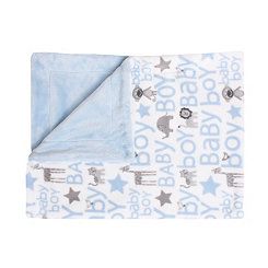 Cory Baby Boy Safari Loft Fleece Blanket