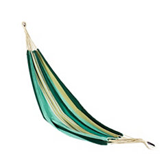 Blue and Green Striped Single Person Hammock