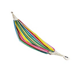 Rainbow Striped Single Person Hammock