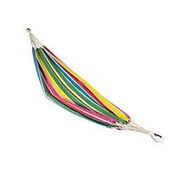 Rainbow Striped Single Person Hammock