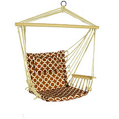 Red and White Hammock Chair