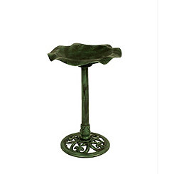 Green Ripple Resin Bird Bath